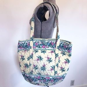 Vera Bradley Yellow Hope floral pattern tote